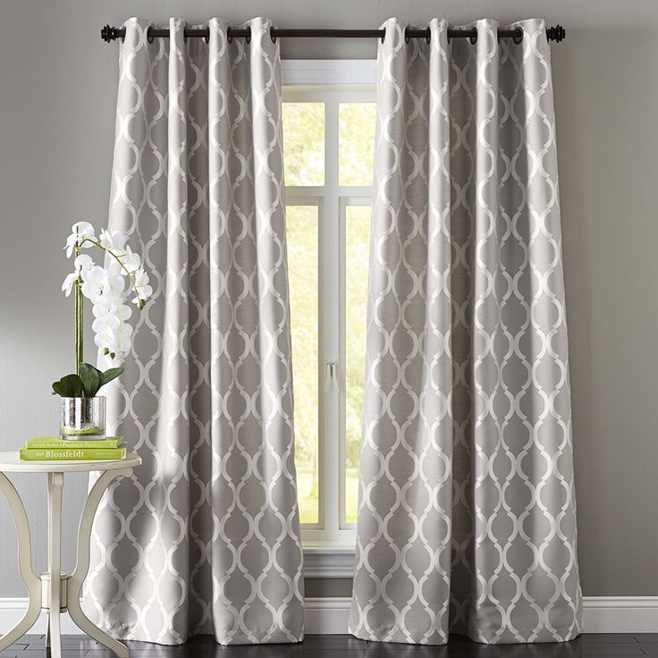 Gardinen Muster Moorish Tile Gray Grommet Curtain | The Floor, Patterns