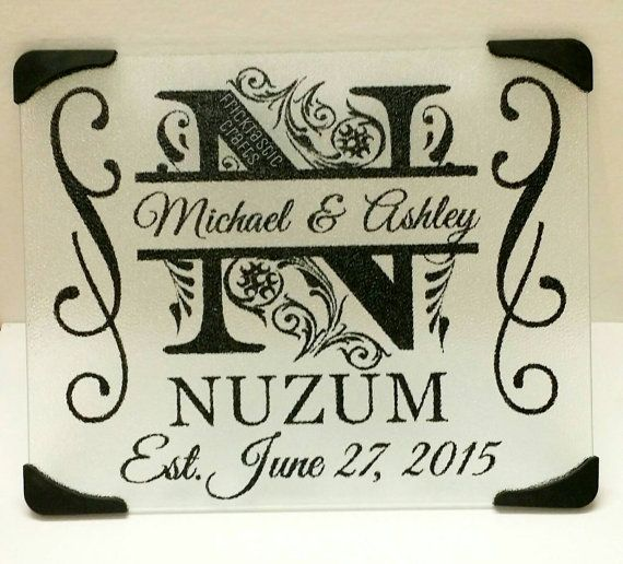 personalized monogram cutting board gifts