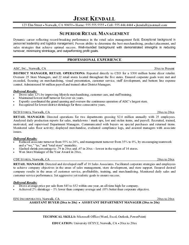 Resume Examples For Retail Examples Of Resume Objectives For - resume examples for customer service jobs