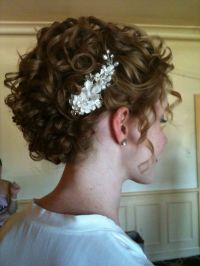 naturally curly updo | Wedding hair | Pinterest | Updo ...