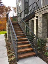 25+ best ideas about Exterior stairs on Pinterest   Steel ...