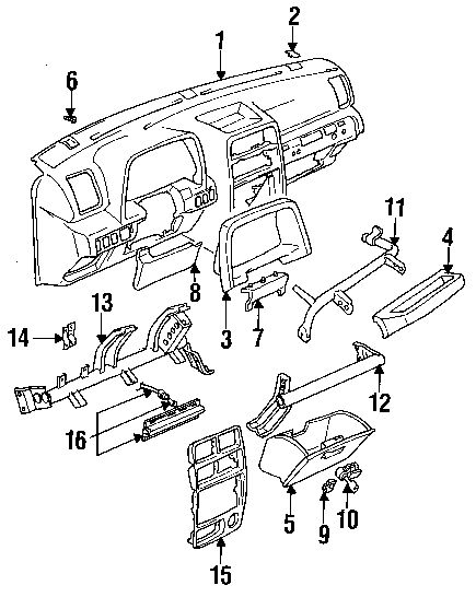 chevy tracker parts diagram car tuning