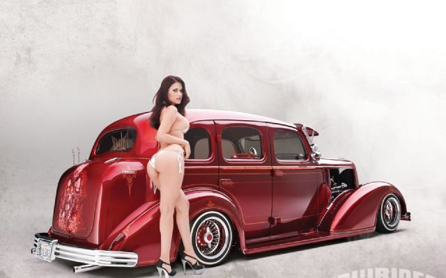 Fast Cars And Girls Wallpaper 1936 Chevrolet Master Deluxe Lowrider Magazine Photo 01