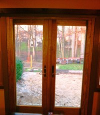 Andersen outswing French Door with retractable screen ...
