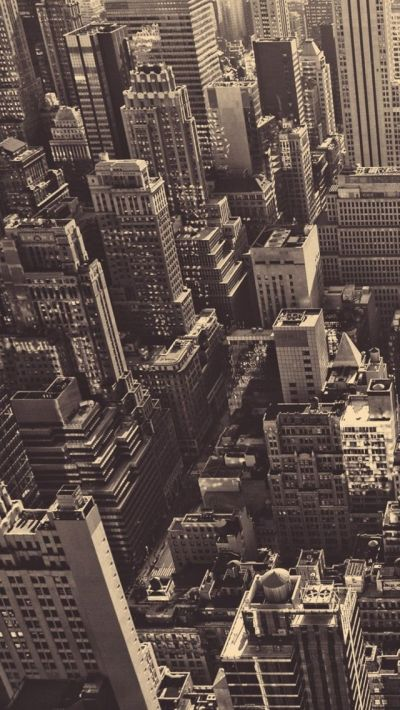 Vintage New York City Aerial View iPhone 5 Wallpaper / iPod Wallpaper HD - Free Download | Fave ...