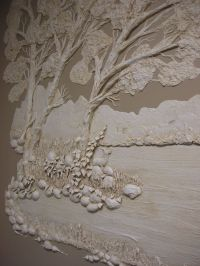 Architectural Relief,Plaster High Relief, Wall sculpture ...