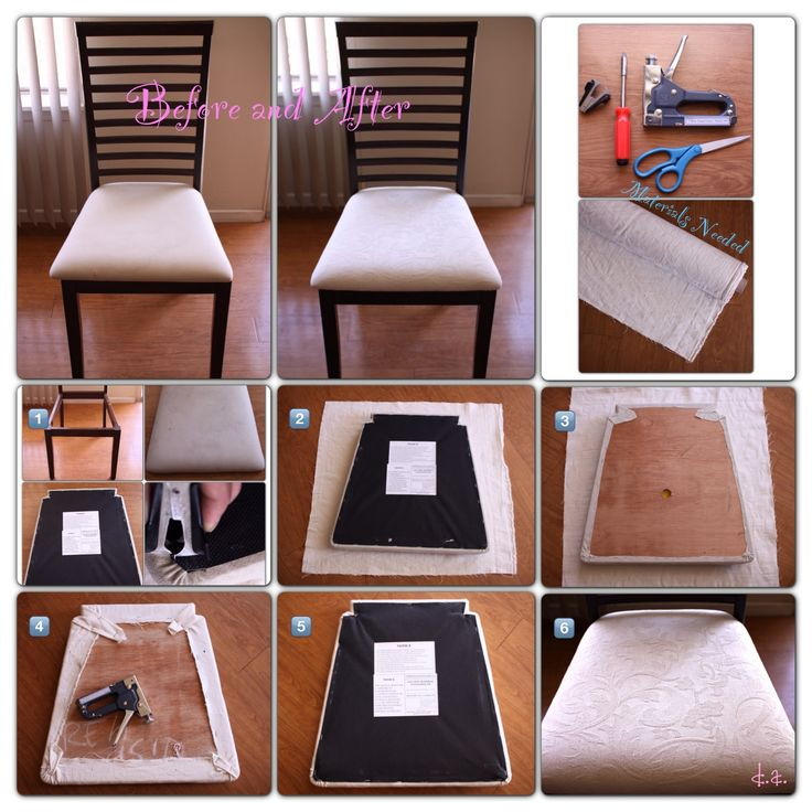 Cheap Chair Cushions Reupholstered Dining Chair #diy | Diy | Pinterest | Dining