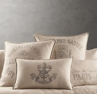 Restoration Hardware Throw Pillows   Steampunk Living Room ...