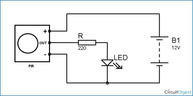 pir motion sensor arduino circuit diagram