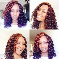 Protective style crochet braids with expression hair ...