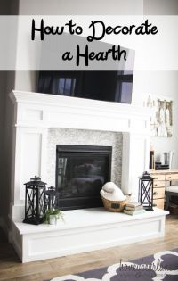 Best 25+ Fireplace hearth decor ideas on Pinterest ...