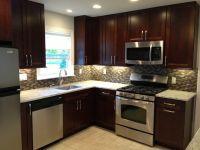 Kitchen remodel - dark cabinets - backsplash - stainless ...