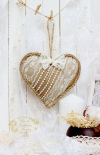 25+ best ideas about Lace heart on Pinterest | Hanging ...