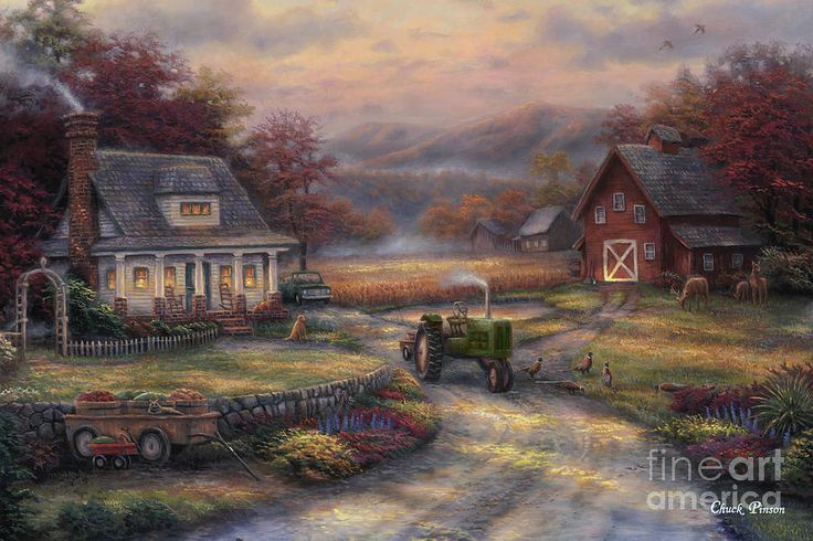 Thomas Kinkade Fall Wallpaper 17 Best Images About Chuck Pinson Art On Pinterest Each