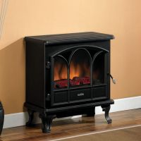 Duraflame 750 Black Electric Fireplace Stove with Remote ...