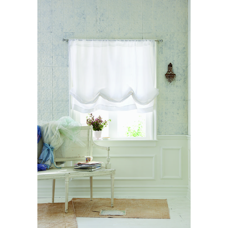 Simply Shabby Chic Faux Silk Balloon Shade exclusively