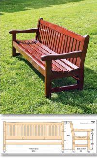 25+ best ideas about Garden bench plans on Pinterest