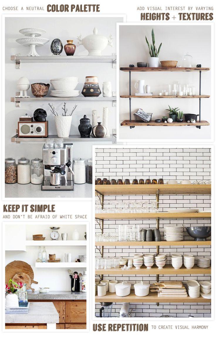 kitchen shelves open kitchen cabinets Open Kitchen Shelving