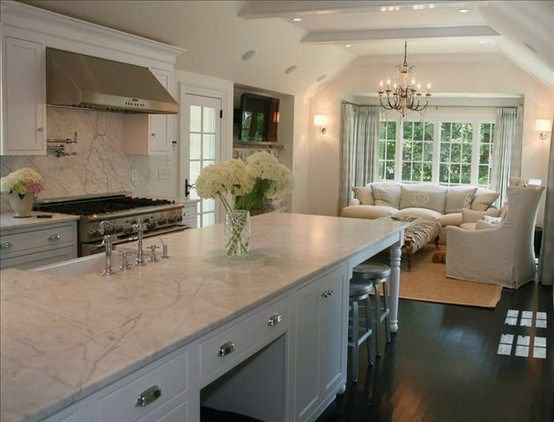Long island counter seats sitting area inspiration for