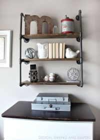 Rustic Toddler Boys Room | Industrial, Pipe shelves and Boys