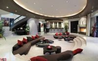 Wonderful Modern Mansion Living Room On Home Design With ...