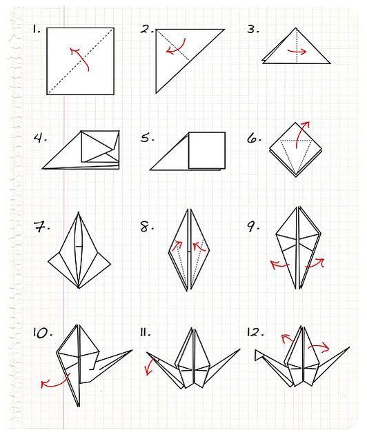 schema of origami mobile crane 5