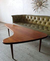 Mid Century Danish Modern Teak Boomerang Coffee Table ...