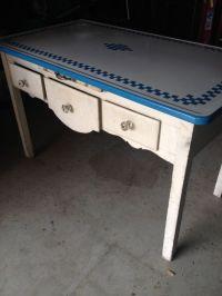 Vintage Enamel Top Bakers Table | Vintage Kitchen Tables ...