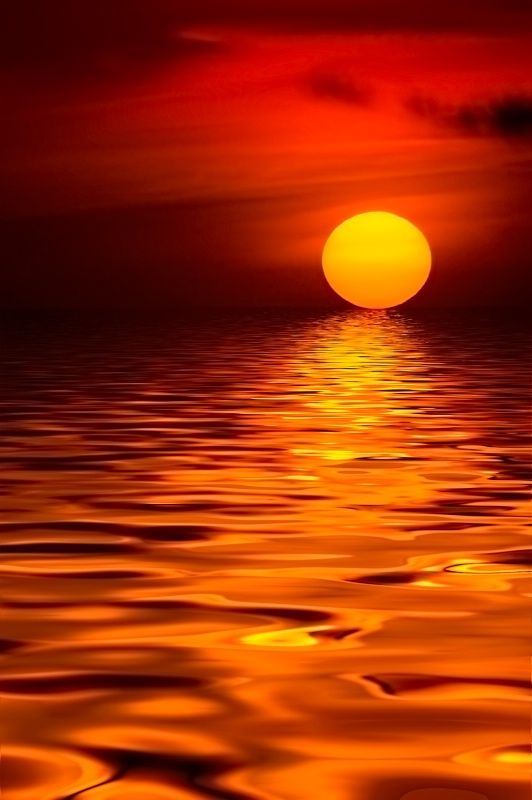 Cute Pinkish Wallpapers Liquid Sun Rippling Water And An Orange Sunset By