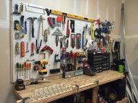 Current pegboard layout/organization | shop | Pinterest