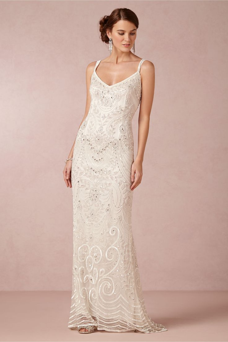 beach wedding dresses reasonable wedding dresses Elsa Gown in Bride Wedding Dresses at BHLDN nspired by the opulent glamour of the