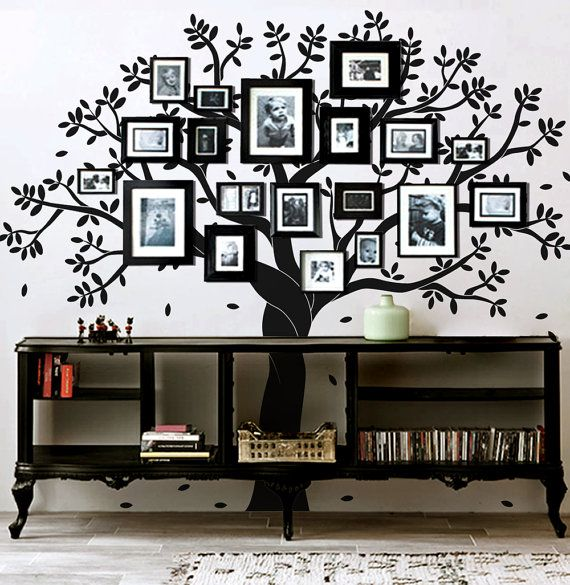 Family tree wall decal photo frame tree by Artoxo on Etsy