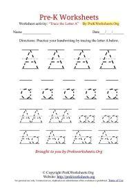 Pre Kindergarten Alphabet Worksheets - full alphabet ...