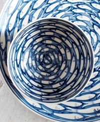 Blue Fish dinnerware - How could you ever afford that? The ...