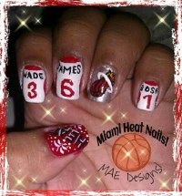 -Miami Heat Nail Design!- Thumb: Heat & Fireworks Index ...