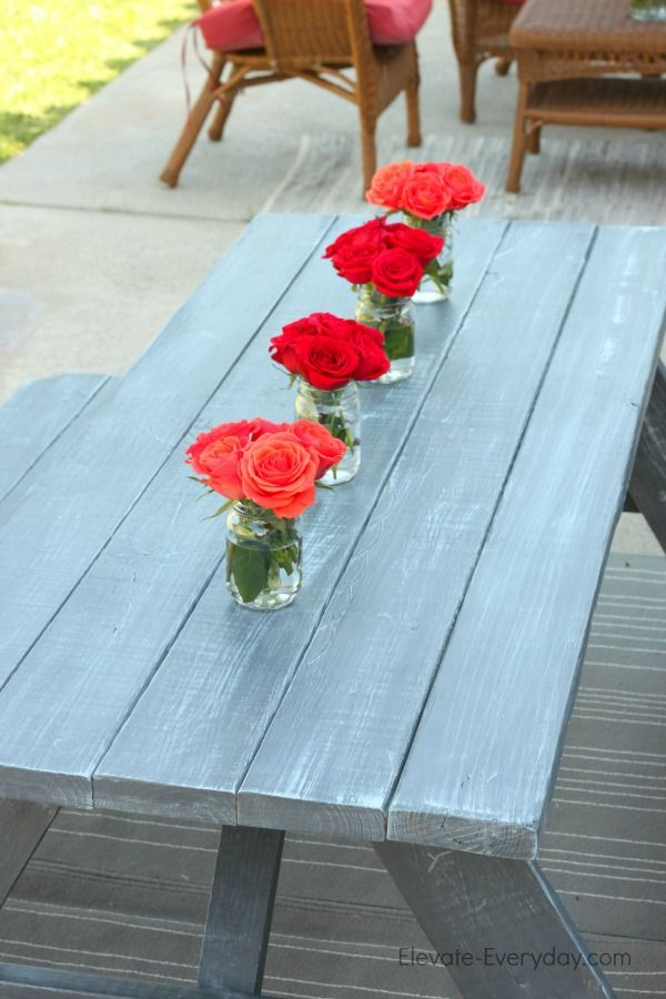 25+ best ideas about Picnic Table Paint on Pinterest