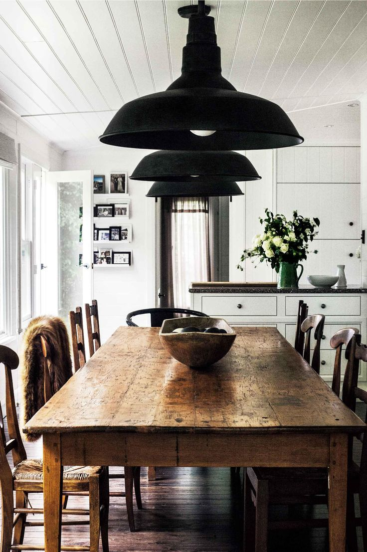 antique dining tables kitchen dining tables InteriorCrowd Black Farmhouse KitchenBlack Kitchen TableBlack