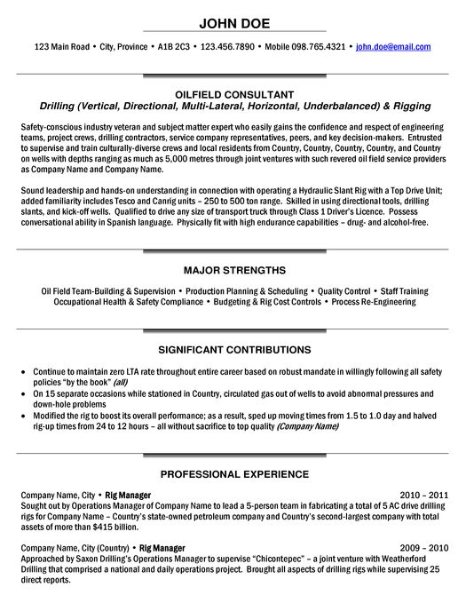 staff geologist resume sample
