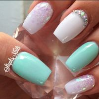 Best 25+ Mint green nails ideas on Pinterest
