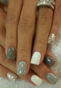 1000+ ideas about Grey Nail Designs on Pinterest | Gray ...