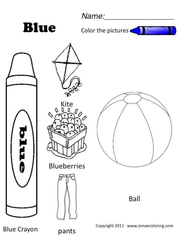 blue colouring pages