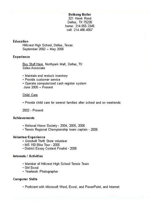Sample Resume For High School Students Massedu Best 25 Student Resume Template Ideas On Pinterest