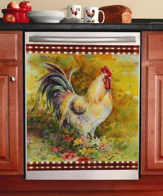 Dishwasher Cover Roosters And Dishwashers On Pinterest