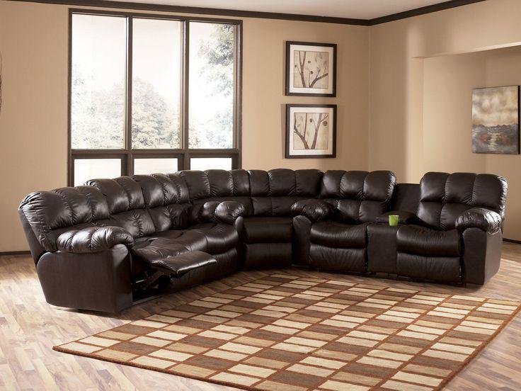 farmhouse leather sectional