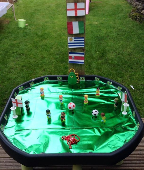 Wasmachine Lekbak Ikea Tuff Tray Becomes Football Pitch From Tuff Tray Ideas From