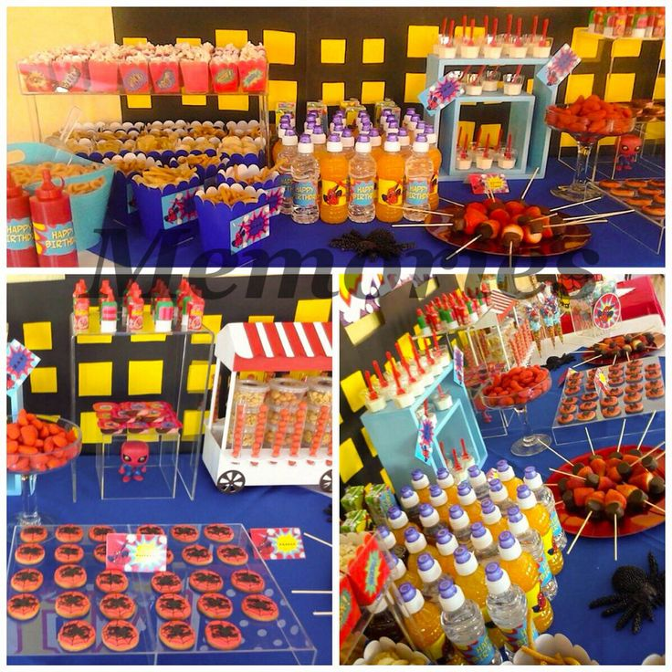 Ideas Para Decorar Mesas De Dulces Spiderman Mesa De Dulces | Eventos Especiales | Pinterest