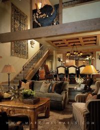Rustic Lodge living room, Aspen, Colorado | Rustic Lodge ...