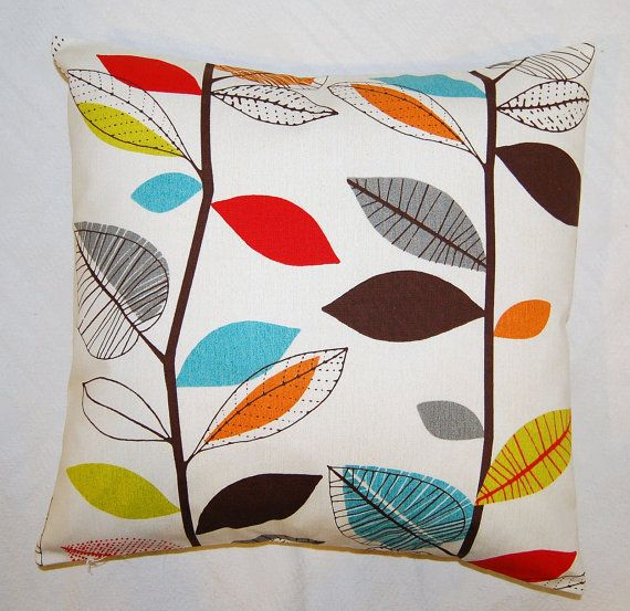 Pillow Cover Red Blue Orange Yellow Green Brown Grey