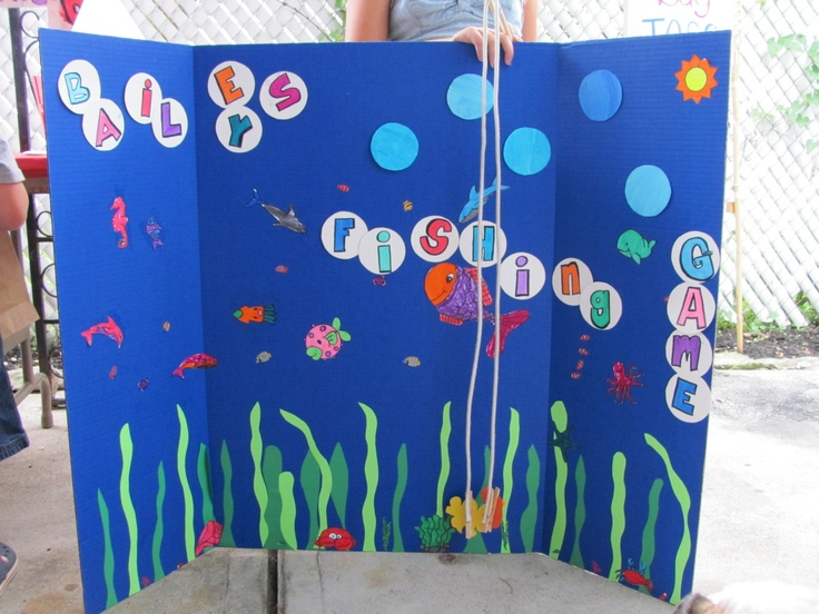 blue tri fold poster board