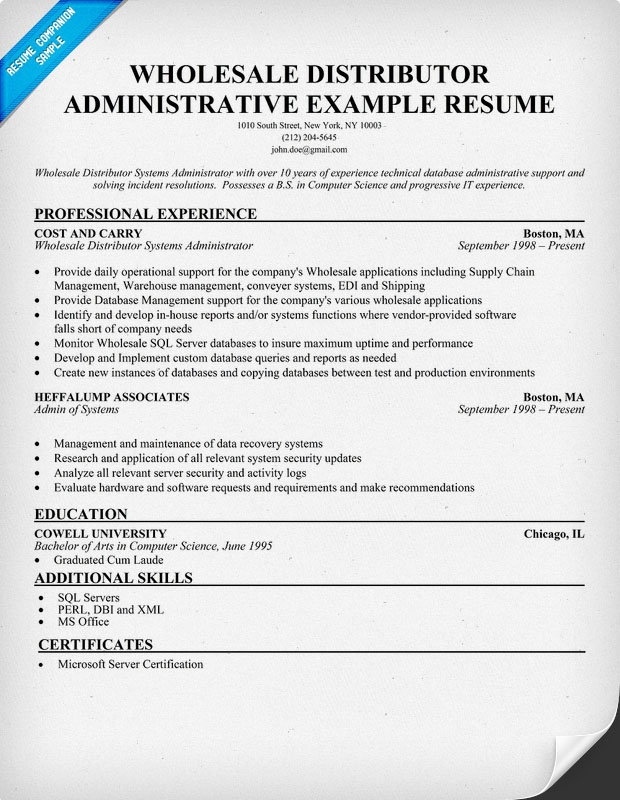 resume administrative assistant examples